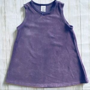 Gap baby purple velvet sleeveless dress 18/24 mo.